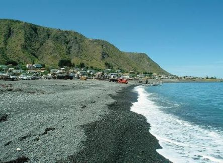 The small fishing village of Ngawi on the Wairarapa coast