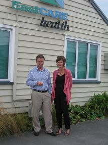 Doctor and Nurse outside surgery in the east of Christchurch