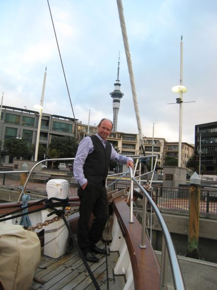 Man of the Sea Richard Allen on board the Ranui small