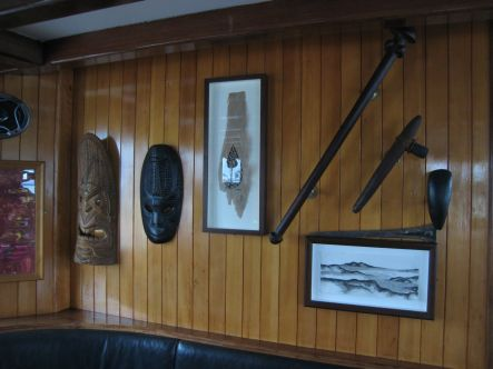 Man of the Sea Some of the pacific artwork that adorns the walls of the cabin small