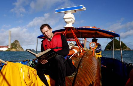 Taranaki Cathedral Dean Jamie Allan takes his King James Bible Readathon offshore