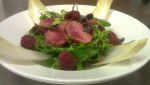 Raspberry marinated lamb loin