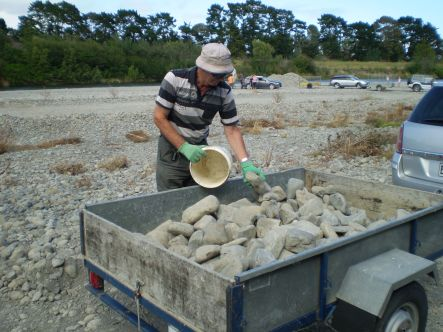Gravel Grab Rocks carefully selected for a garden wall small