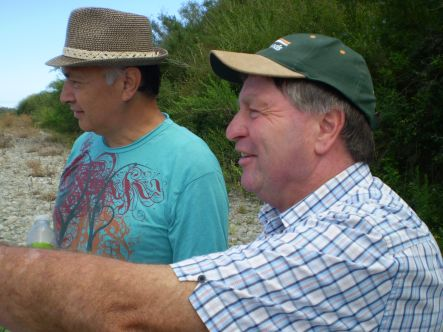 Gravel Grab Te Waari Carkeek left has a Maori perspective on the Otaki river and Max Lutz is chairman of Friends of the Otaki River small