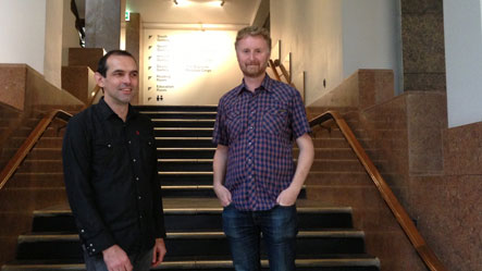 Curators Aaron Lister and Mark Williams