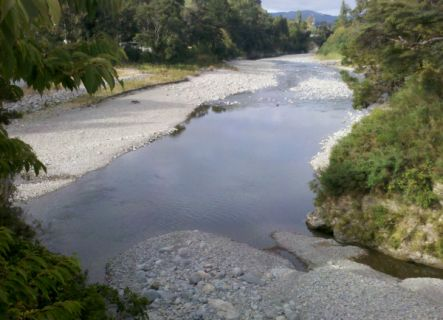 Hutt River taken from Bridge Road in Akatarawa with very little water