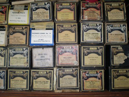Piano tuner Pianola roles by the dozen
