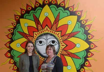 Sandringham Spice June Anita and Lisa in front of Mumbai Chaat s mural small