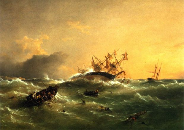 Orpheus July By Richard Brydges Beechey Courtesy Edmiston Trust Collection Voyager New Zealand Maritime Museum