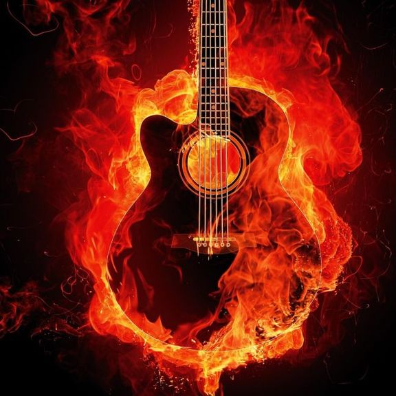 Small firey guitar sq tile 650x650 dark rider 42019 unsplash pd