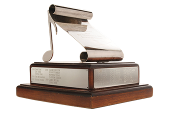Small silver scroll award transparent background 600x400