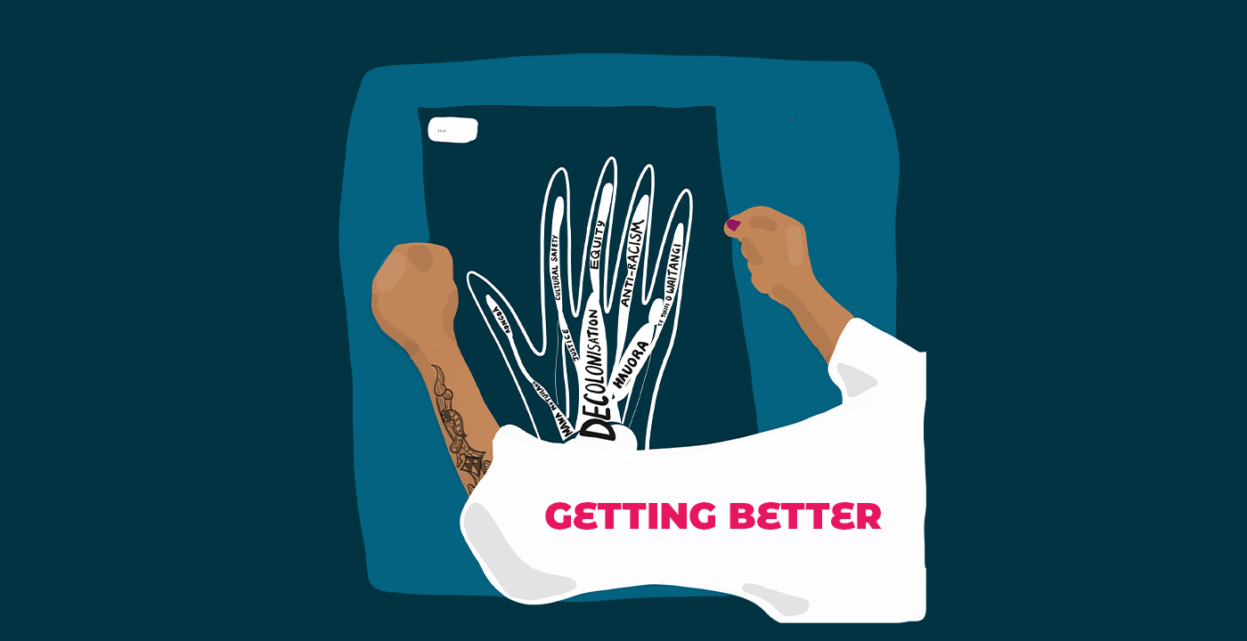 Graphic for Getting Better - A Year in the Life of a Māori Medical Student